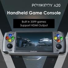 POWKIDDY – Console de jeux vidéo de poche X20, 3599 jeux intégrés, Linux, rétro, classique, cadeau pour enfants