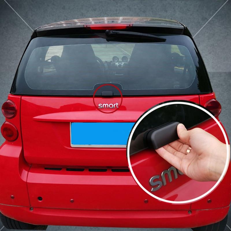 Para Old Smart fortwo 451 coche para parachoques trasero y maletero puerta trasera adhesivo de manija perilla auxiliar decoración Exterior accesorios de coche