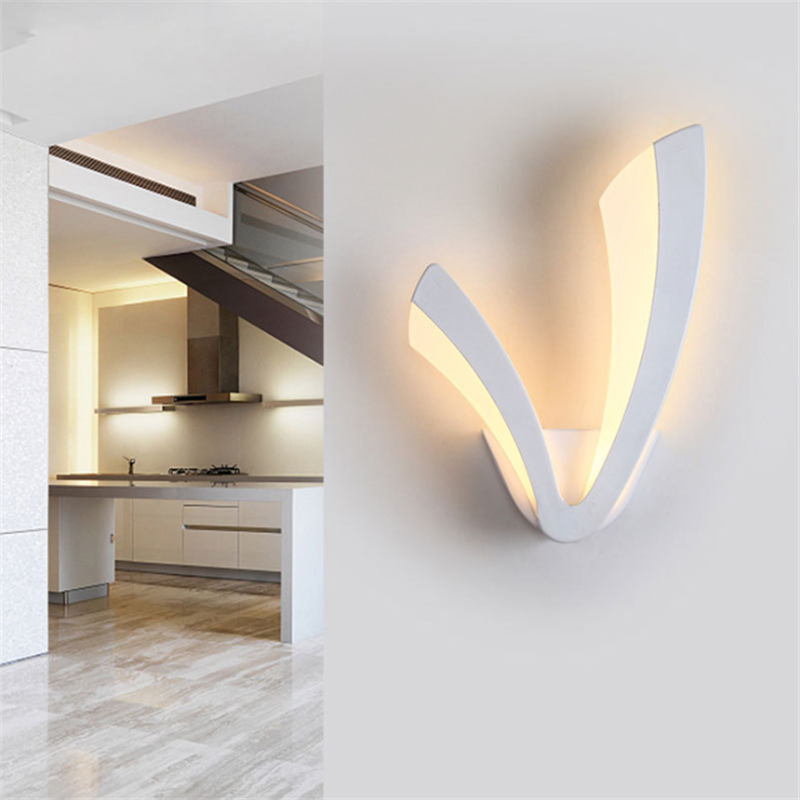 Modern LED Wall Lamp Home Decoration Night Light Bedroom Kitchen Acrylic Wall Lampara Wall Sconce Lamps Bathroom Lamp Decoration