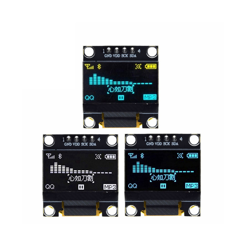 "Amarelo-azul cor dupla branco 128x64 oled lcd display led módulo para arduino 0.96 ""i2c iic se comunicar"