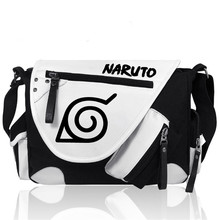 Naruto Anime Hokage Cartoon Sharingan Crossbody Student Shoulder Bag Laptop Satchel Unisex Casual School Bag for Men Gifts New(China)