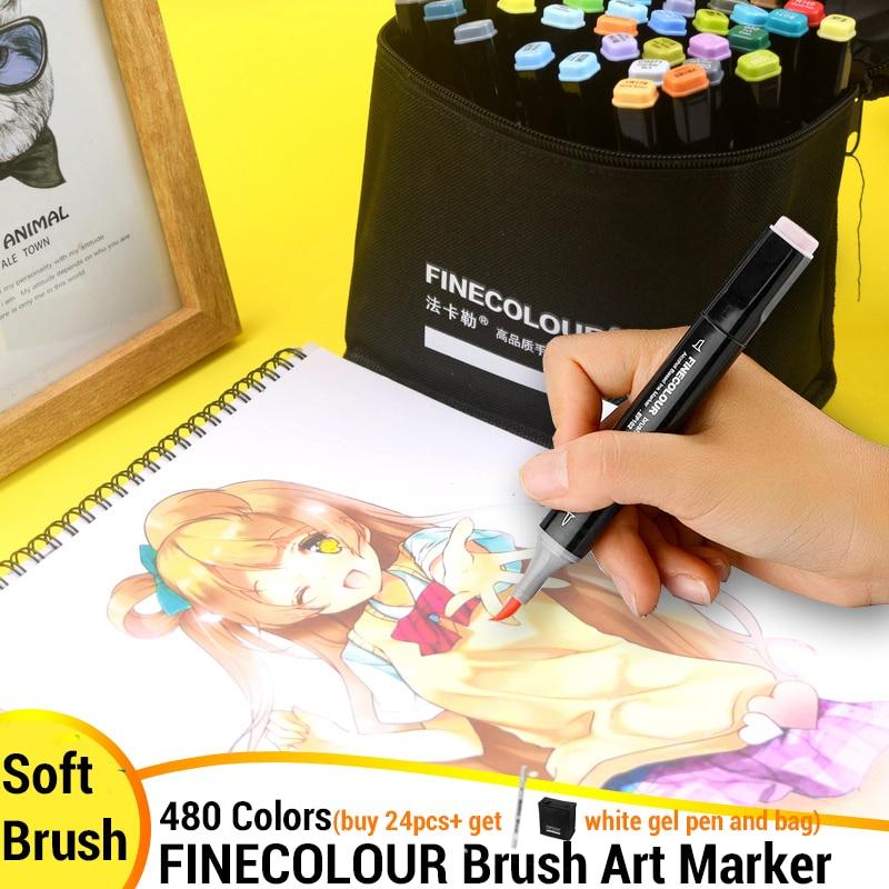Finecolour Soft Brush Markers Pro Alcohol Art Marker Pen Skin Color Set Felt Tip Architecture Comic Stationery Arts Supplies
