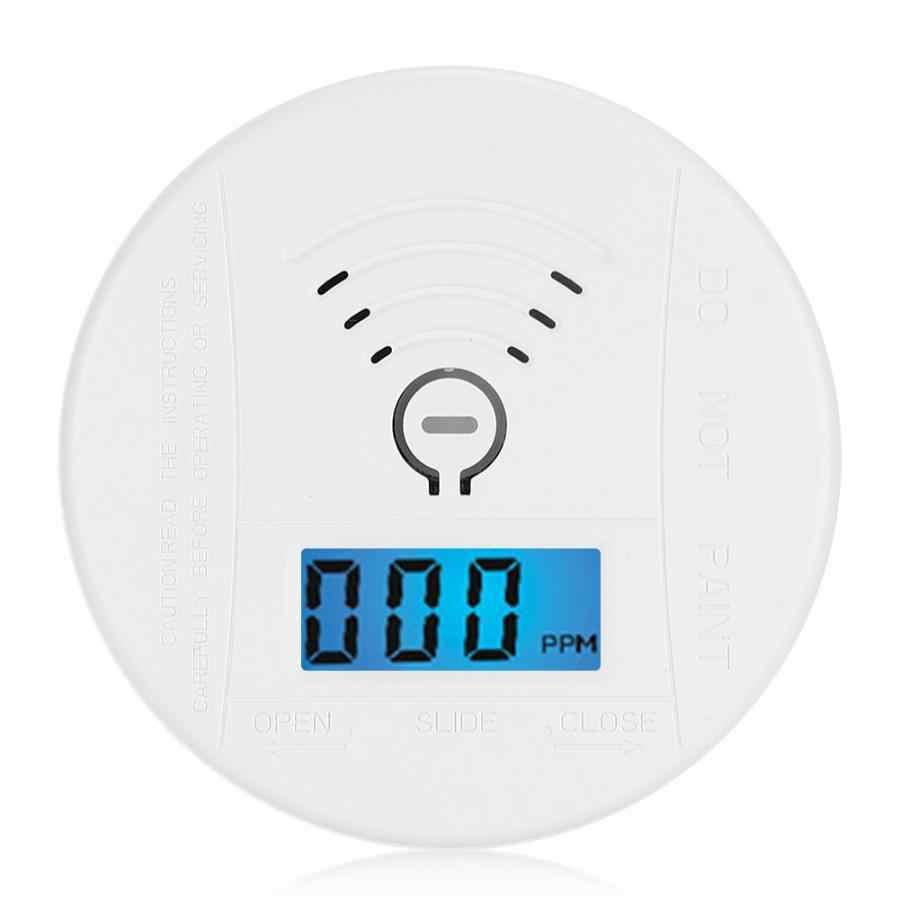 Круглый Мини-датчик со окисью углерода 360 градусов детектор отравления Предупреждение ющий звук и светильник с ЖК-дисплеем