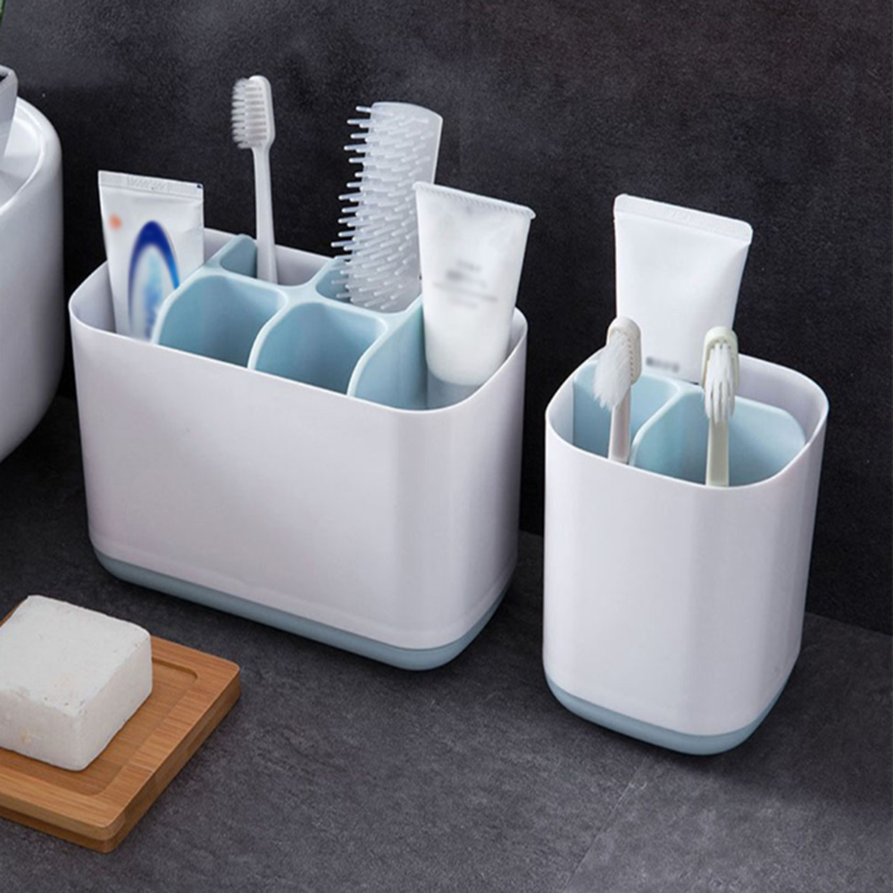 Homies Bathroom Easy-Store Toothbrush Caddy Gray/Blue Large Electric Toothbrush Storage Holder Organizer Organizer Box