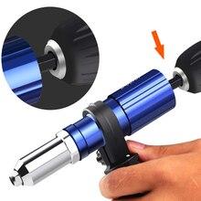 Electric Pull Rivet Gun Tool Nail Gun Rivets Set Strong Toughness Drill Adapter Kit Nail Riveting Metal Portable Supplies