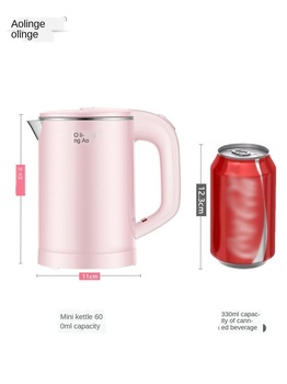 Portable mini travel electric kettle small capacity power dormitory student office kettle small household stainless steel 110v 240v folding electric kettle travel kettle hidden handle mini insulation household kettle with universal conversion plug