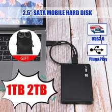2,5 Мобильный жесткий диск USB3.0 SATA3.0 1 ТБ 2 ТБ HDD disco duro externo внешний жесткий диск для ноутбука/Mac/ВБ