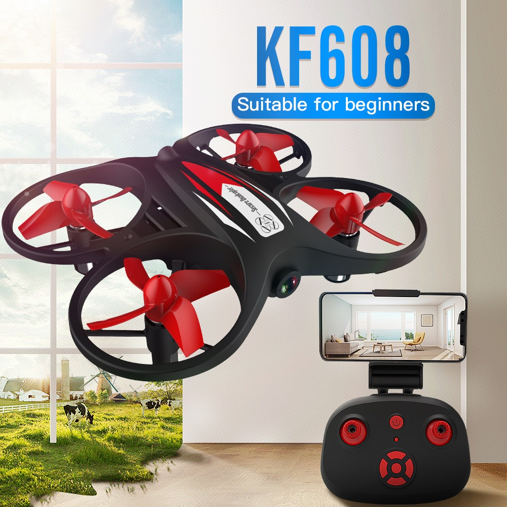 Drone KF608 Mini HD RC Drones Quadcopter WiFi Remote Control Airplane Dron Toy 720P Camera Quadcopter selfie drone toys image