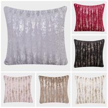 Meijuner New Plush Pillowcase Soft wool Gold Silver Furry Cushion Cover Square Waist Throw Pillow Gifts Faux Fur MJ0016