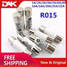 цена на 60PCS Kit R015 fuse 10x38 mm 500V 380V core RT18 Ceramic fuse tube 1A/2A/3A/4A/5A/6A/8A/10A/16A/20A/25A/32A Each 5 pieces