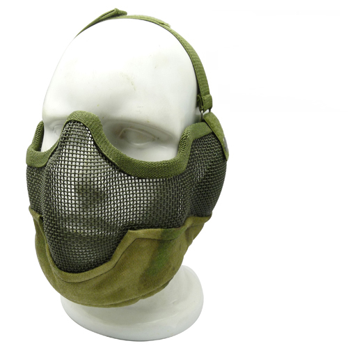 Airsoft Paintball Mask V2 Tactical Mesh Half Face Protection Gear Skull Cosplay Party Masks