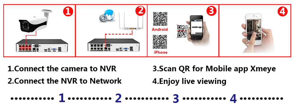 H.265 8CH POE NVR Security Camera System 5MP Outdoor Waterproof Cctv 8 Camera Surveillance System Kit 4Ch POE IP Cam Set XMEYE