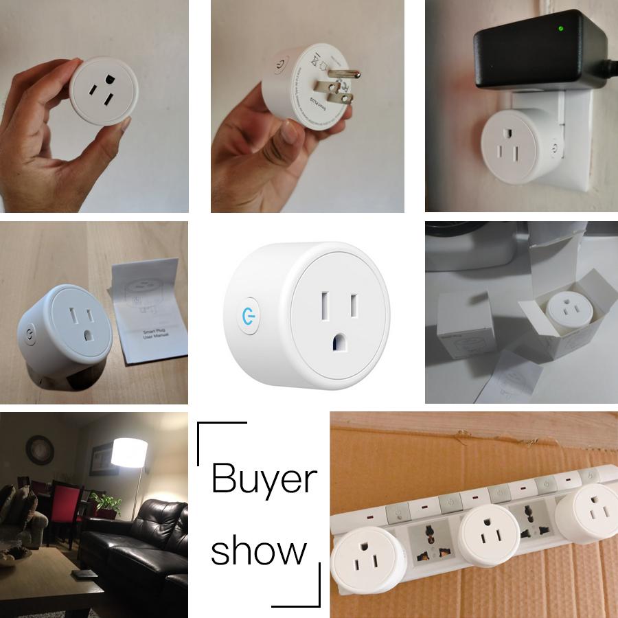 Hd714f4f730504cd787a738971df55d83i - FrankEver Mini US Wifi Plug with Surge Protector 110-240V Voice Control Smart Socket Work with Alexa Google Home Tuya APP