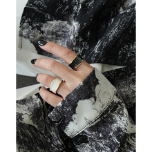 S925 Silber Frau Luxus Mode EpoxyOpen Ringe Vintage Originalität Einstellen Breite Reif Party Schmuck Geschenk