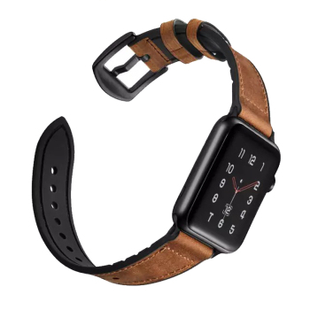 strap for apple watch band 4 5 44mm 40mm apple watch band 42mm 38mm iwatch belt 3/2/1 silicone&Vintage Genuine Leather bracelet modern buckle strap for apple watch band 38mm 40mm 42mm 44mm bracelet genuine leather weave watchband for iwatch 4 3 2 1 belt