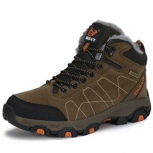 Image 4 - סתיו חורף Mens טיולים מגפי נשים של נעלי ספורט נעלי טיפוס הרים טקטי ציד הנעלה חדש קלאסי חיצוני ספורט גבר