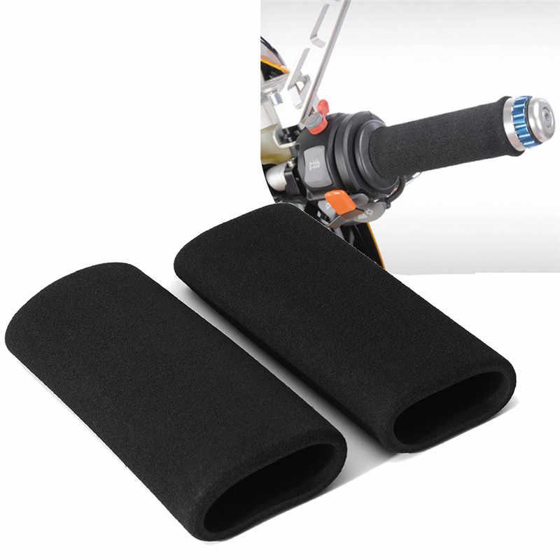 2 Pcs Motorbike Motorcycle Slip Grip Covers on Foam Anti Vibration Comfort Handlebar Grip Cover Set Accessories Dropshipping