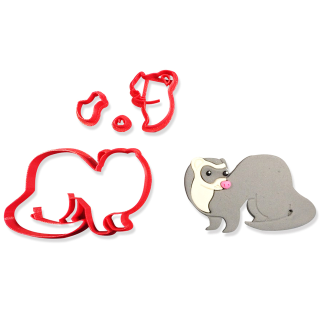 Ferret cookie cutter Animal shaped cookie cutters