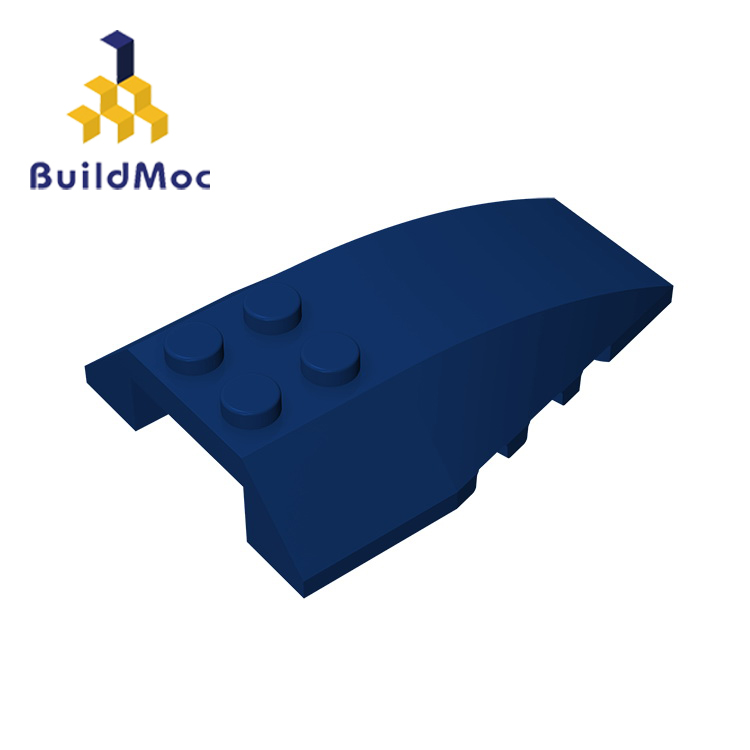 BuildMOC Compatible Assembles Particles 43712 Wedge 6 X 4 For Building Blocks Parts DIY LOGO Educational Gift Toys