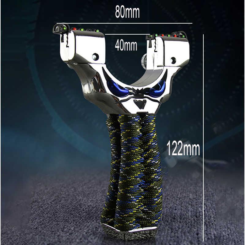 적외선 레이저 슬링 샷 야외 고정밀 슈팅 강력한 투석기 플랫 고무 밴드 야외 Slingshots 사용