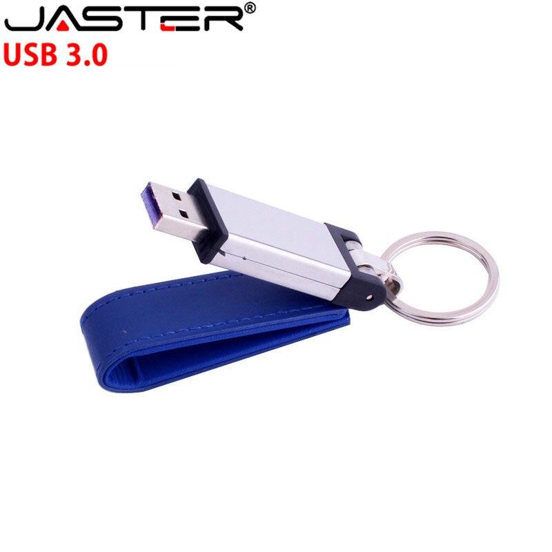 JASTER USB 3.0 Usb Leather Style USB Flash Drive Pendrive 4GB 8GB 16GB 32GB 64GB Keychain Memory Card Usd Memory Stick Gift