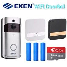 V5 inteligente ip vídeo porteiro campainha da porta do telefone wi fi câmera para apartamentos ir alarme sem fio câmera de segurança
