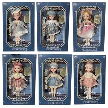 12 дюймов 31 см Bjd кукла 23 подвижные суставы 1/6 макияж одеваются 3D глаза для маленьких девочек подарок на день рождения новый        АлиЭкспресс