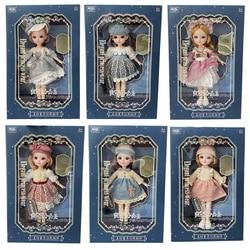 12 дюймов 31 см Bjd кукла 23 подвижные суставы 1/6 макияж одеваются 3D глаза для маленьких девочек подарок на день рождения новый