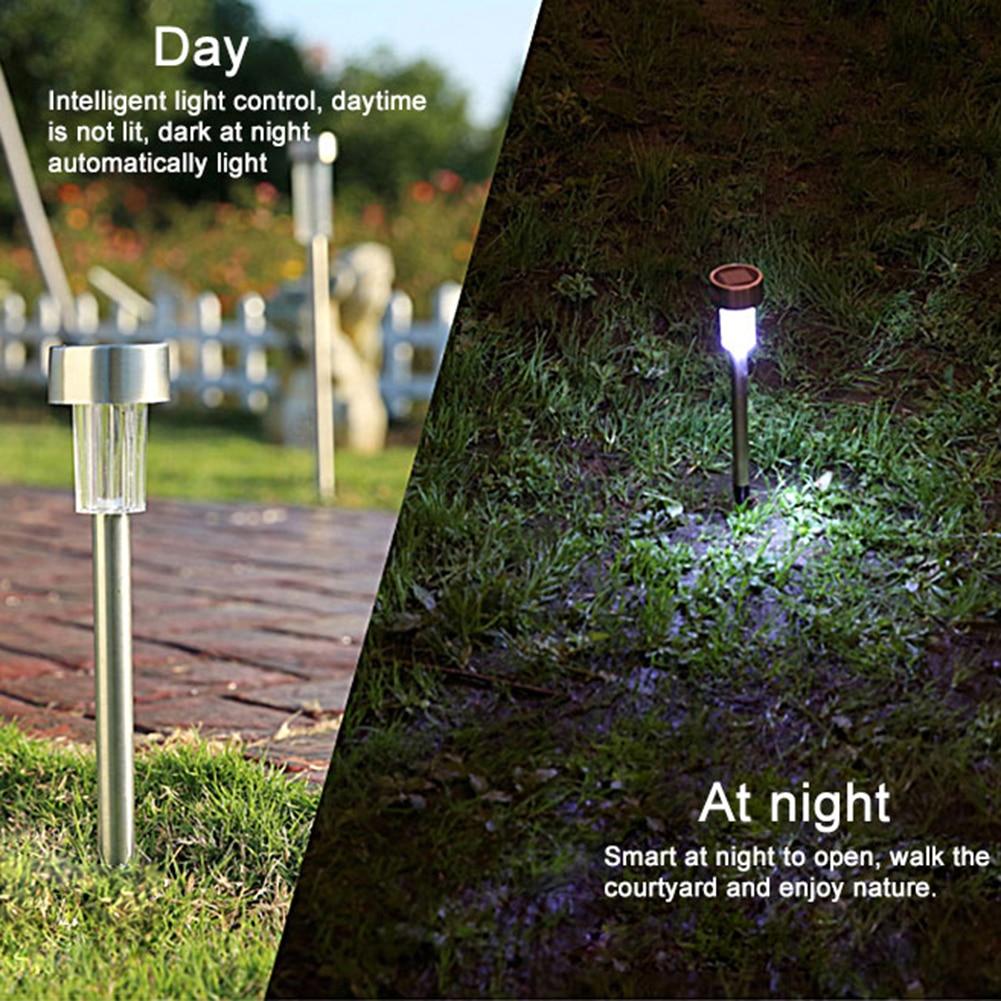 lowest price 10pcs Waterproof LED Solar Lawn Lamp Garden Pathway Yard Bollard Light Stick Solar Street Lamp Garden Decoration