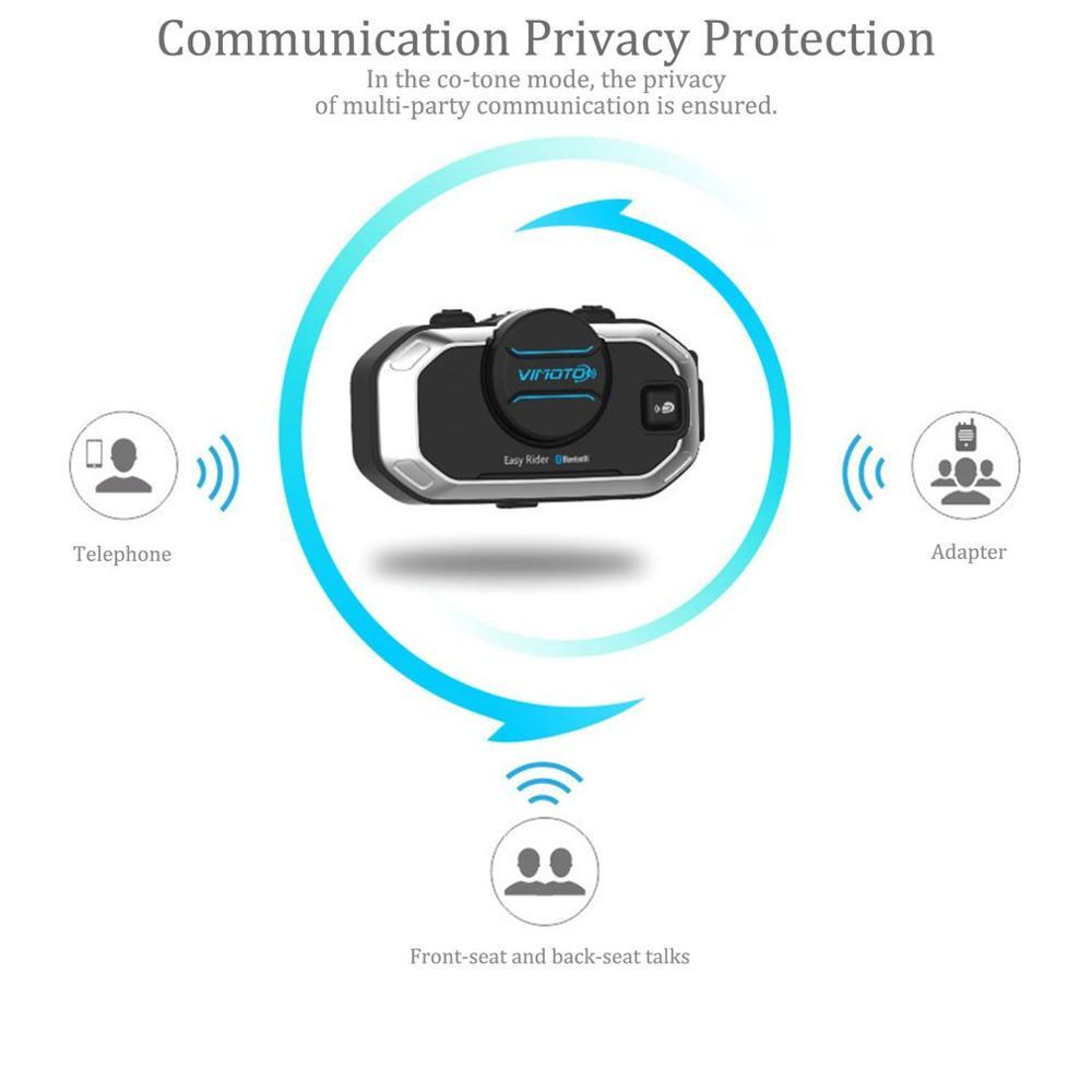 Angielska wersja easy rider Vimoto V8 zestaw słuchawkowy kask motocyklowy słuchawki stereo do telefonu komórkowego i radio gps 2 Way