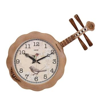 Mute Creative Guitar Large Wall Clock Modern Design Quartz Decorative Designer Wall Clock Wanduhr Watch Decorative Supplies C6T