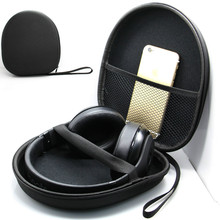 9500 Headphone Bag Large Carrying Case Compressed Storage Box Bluetooth Headset 21*19*6cm headphone case