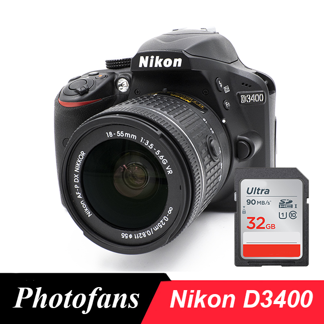 Nikon D3400 DSLR Camera with 18-55mm Lens -Bluetooth -Video (Brand New)