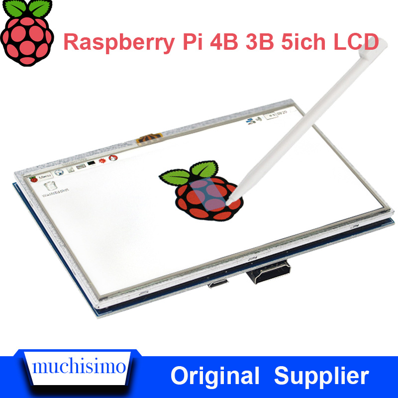 5inch Raspberry Pi 4 Model BLCD Display Touch Screen LCD 800×480 HDMI TFT Monitor + Holder Case For Raspberry Pi 4B 3B 3B+