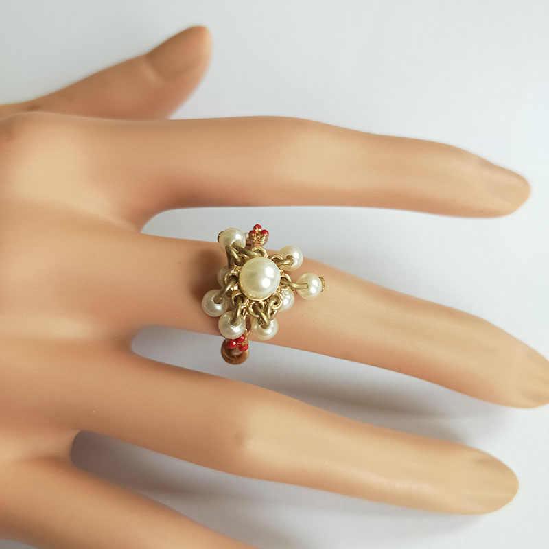 Модные кольца ювелирные украшения новые золотые три тканые птицы Ласточки кольцо с жемчугом для женщин Подарочные Кольца Прямая доставка