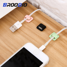 18PCS Cable Organizer Wire Cable Winder Clips Desktop Cord Management Clips Holder USB Charging Data Line Cable Winder Earphone 5pcs wire line cable organizer clips ties fixer fastener holder desktop flip solid line cable winder management