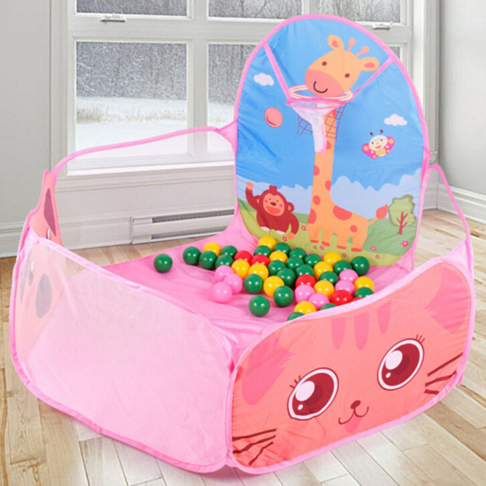 Portable Kids Playpen Baby Pool Balls Carton Indoor Outdoor Children's Playpen Folding Playground Baby Ball Pool Children Fence
