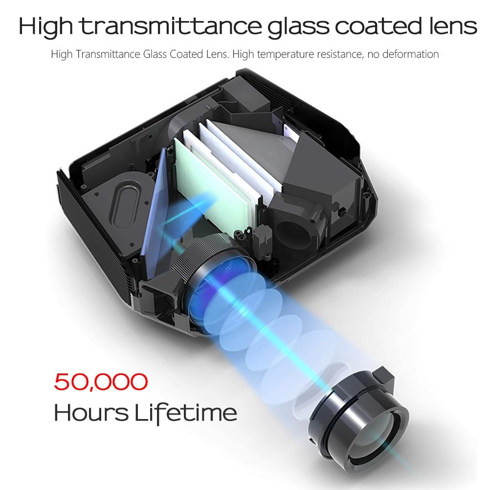 AUN LED Projektor ET10, 3800 lumen, 1280x720 P, Optional Mirroring/Android WIFI Projektor, unterstützung 1080P Video 3D MINI beamer - 4