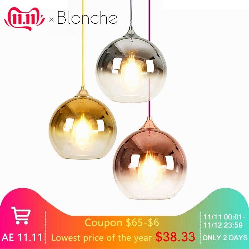 Modern Clear Glass Ball Pendant Lights Led Hanging Lamp For Dining Room Living Room Indoor Decor Lighting Suspension Luminaire