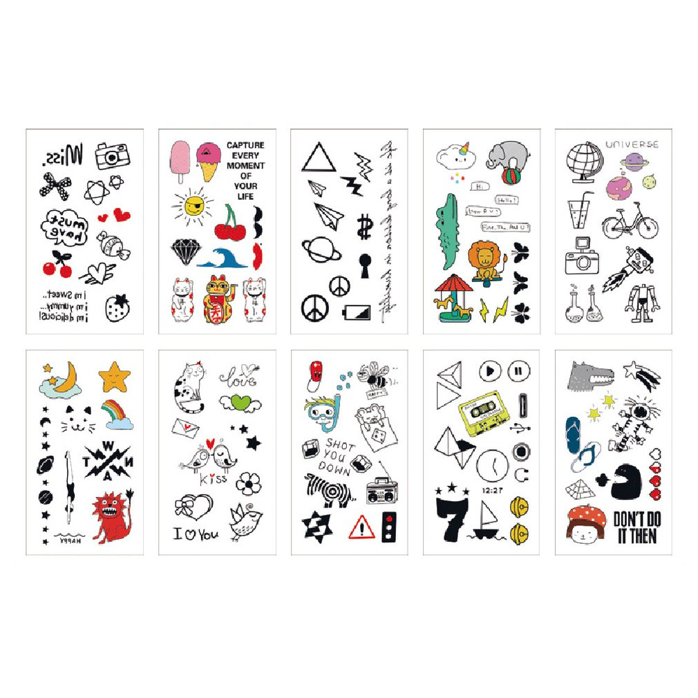 colour and styles may vary tatuajes temporales Novelty Tattoo Sleeves Set of 2