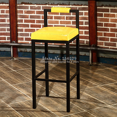 30%1B Nordic Modern Minimalist Bar Stool Bar High Stools Home Wrought Iron Coffee Shop Solid Wood Strip Table