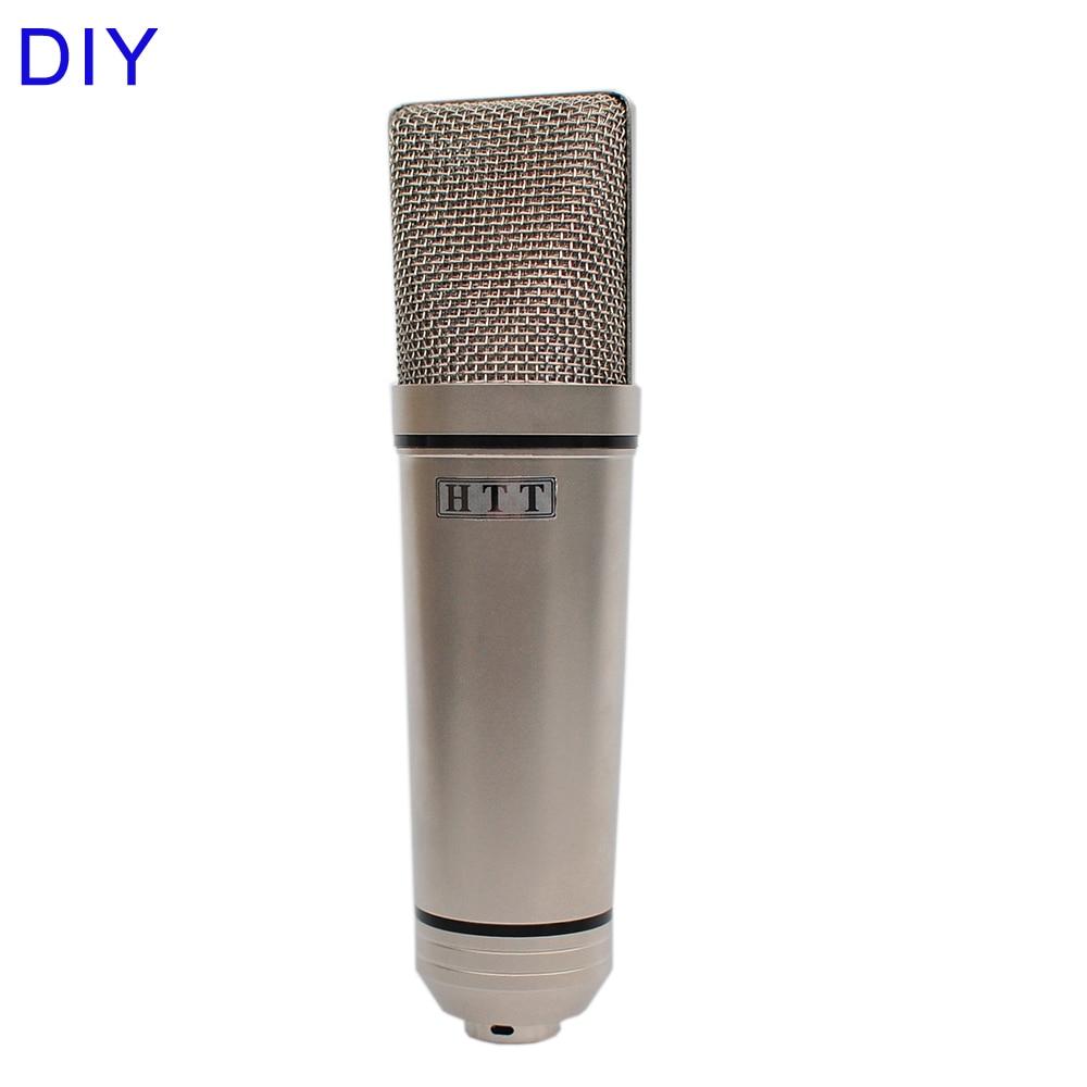 HTT U87 DIY серебряный профессиональный 34 мм капсулы музыка аудио студия звукозапись конденсаторный микрофон|Микрофоны|   | АлиЭкспресс