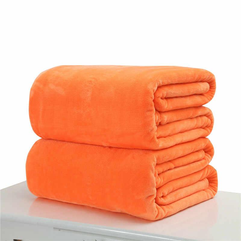 Têxtil para casa outono inverno flanela cobertor novo quente macio coral velo cobertor cama adulto sólida capa de sofá capas quente