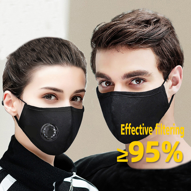 Dust prevention Face Masks N95 Anti-dust Flu Mouth Mask Breathable Activated Carbon Filter Respirator 5-layer Mouth KN95 Mask