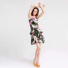 Модное летнее женское мини платье трапециевидной формы с открытыми