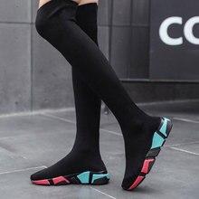 Women's Over The Knee Boots Long Shoes 2019 Lightweigt Elastic High Women
