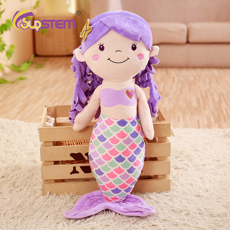 30cm Stuffed Short Plush Toys Dolls Pillows Princess Soft Kawaii Fairy Tale Little Mermaid Birthday Gift For Girls