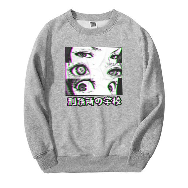 PRISON SCHOLL EYES SAD SWEATSHIRT (8 VARIAN)