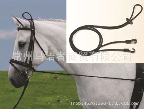 3 Meters Nylon Black Portable Horse Bridle Reins Head Collar Rope Halter Horse Riding Equipment Control Attachment High Stretch