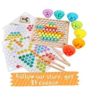 Обучающие игрушки Монтессори для детей, деревянные игрушки с зажимом для тренировки мозгов, Настольная головоломка, детская игрушка, детск...